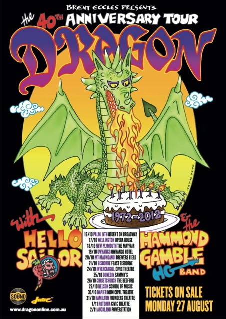 Hammond Gamble Band Gig Poster
